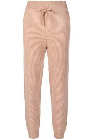 RAG&BONE High-waisted ribbed cashmere trackpants