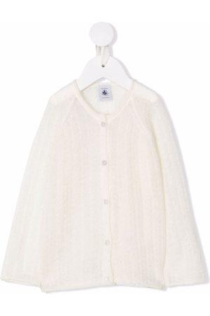Petit Bateau Boys Jumpers - Chunky-knit crewneck sweater