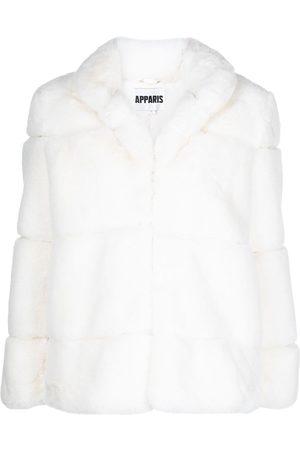 Apparis Single-breasted faux-fur coat