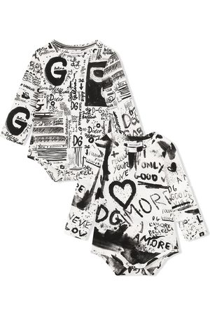 Dolce & Gabbana Graffiti-print bodysuit set