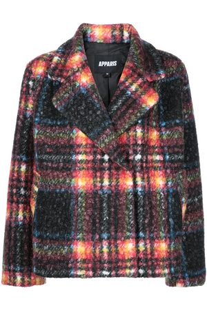 Apparis Plaid-check pattern coat