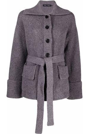 Proenza Schouler Lofty Rib Knit Belted Cardigan
