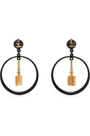 CHANEL 1994 Perfume Bottle hoop dangle earrings