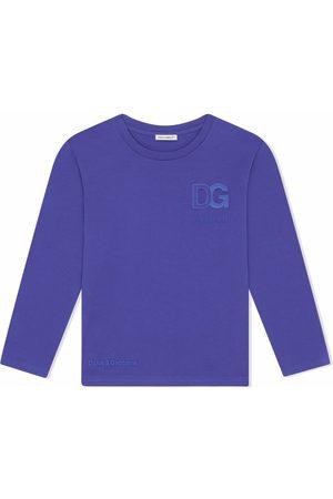 Dolce & Gabbana Boys Long Sleeve - Logo-print long-sleeve top