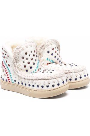 Mou Eskimo rhinestone-embellished boots