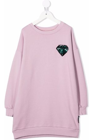 Le pandorine Girls Casual Dresses - Sequin-embroidered sweater dress