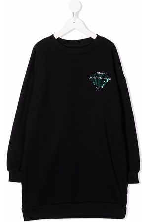 Le pandorine Sequin-embroidered sweater dress