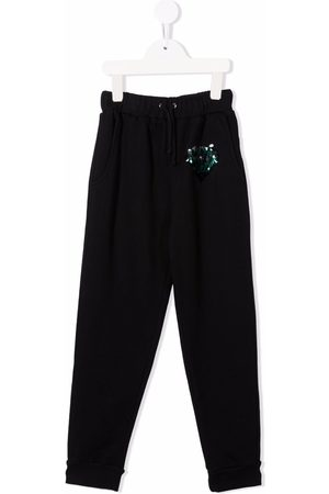Le pandorine Sequin-embroidered track pants