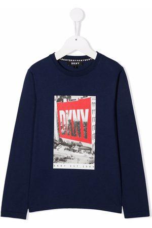 DKNY Boys Long Sleeve - Photo-print long-sleeve T-shirt
