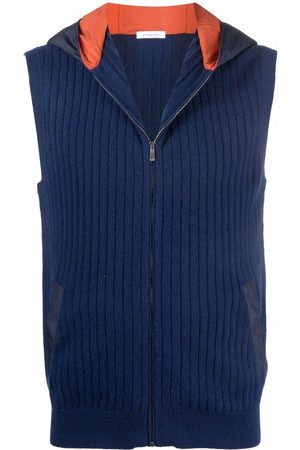 Malo Men Gilets - Hooded cashmere gilet
