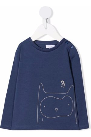 KNOT Confused Owl long-sleeved T-shirt