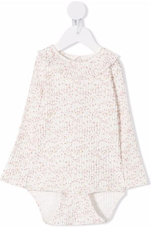 KNOT Floral-print long-sleeve organic cotton body