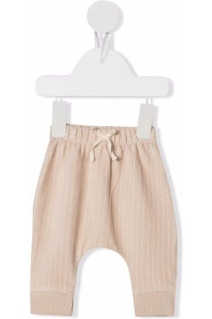 KNOT Baby Pants - Ribbed-detail drawstring trousers