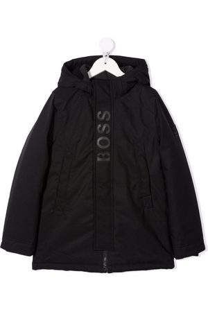 HUGO BOSS Logo-print detail coat
