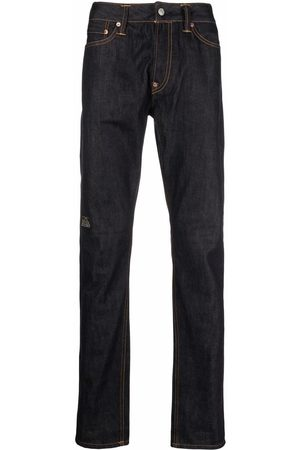 Evisu Men Straight - Brand-print carrot-fit jeans
