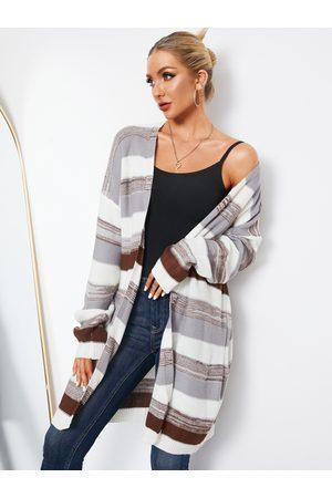 YOINS Striped Long Sleeves Cardigan