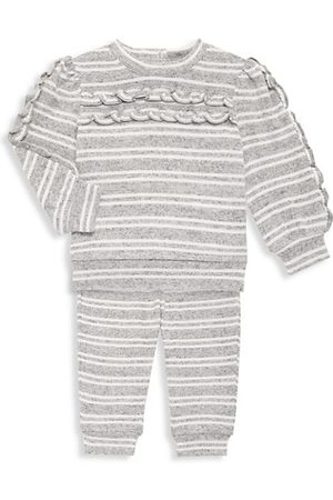 HABITUAL Baby Girl's 2-Piece Striped Sweatshirt & Joggers Set