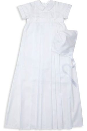 Kissy Kissy Baby Boy's 2-Piece Besos Aiden Christening Convertible Gown & Hat Set