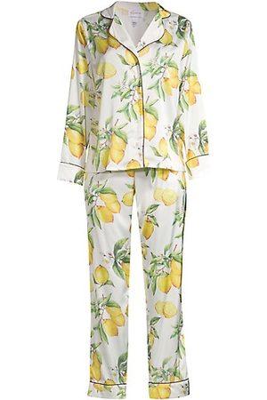 Averie Sleep Two-Piece Citrus Print Pajama Set