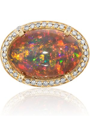 Goshwara Women's 18K Yellow Gold Opal; Diamond Ring