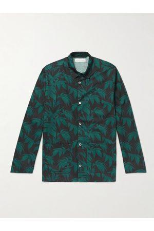 Desmond & Dempsey Slim-Fit Printed Cotton Pyjama Set