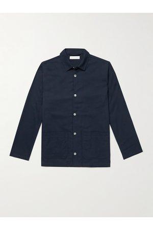 Desmond & Dempsey Brushed Cotton-Flannel Pyjama Set