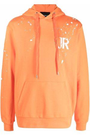 John Richmond Men Jumpers - Logo-print pullover hoodie