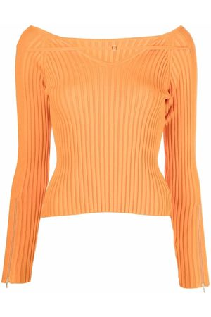 Jacquemus La Maille Oro ribbed top