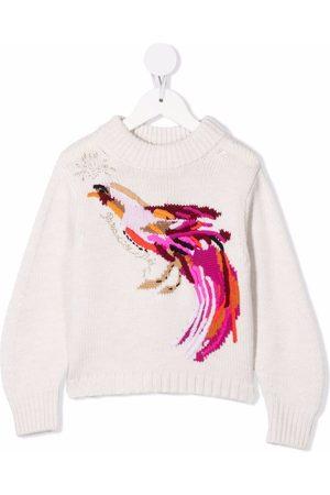 BONPOINT TEEN intarsia bird jumper