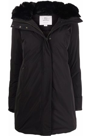 Woolrich Faux fur-trimmed hooded padded coat