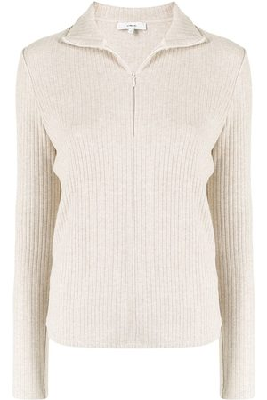Vince Ribbed-knit zip-up cardigan