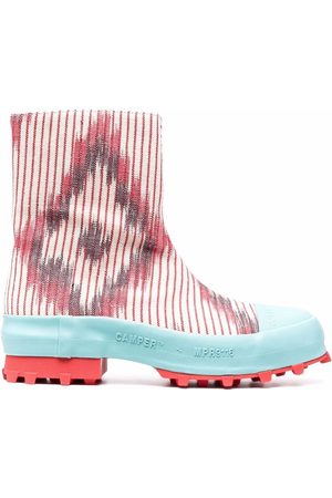 Camper Lab Traktori abstract-print ankle boots