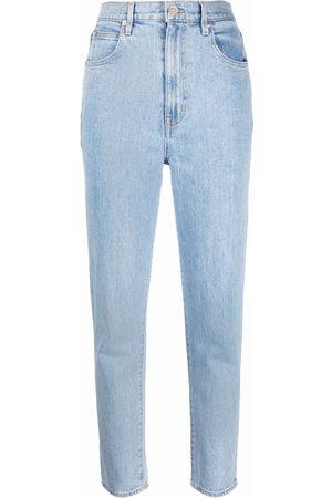 SLVRLAKE High-waisted light-wash jeans