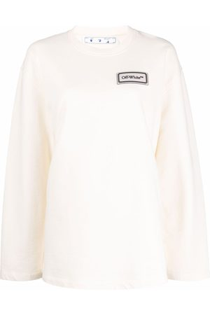 OFF-WHITE Logo-patch long-sleeve top
