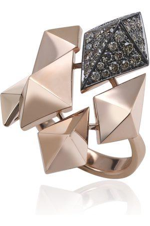 ANAPSARA Women's Empire State 18K Rose Gold Diamond Ring