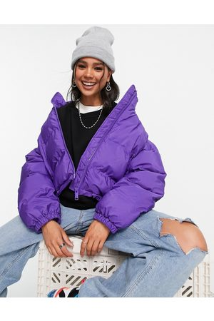 Weekday Promis recycled polyester short padded jacket in bright