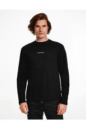 Calvin Klein Men Long Sleeve - Centre logo long sleeve top in