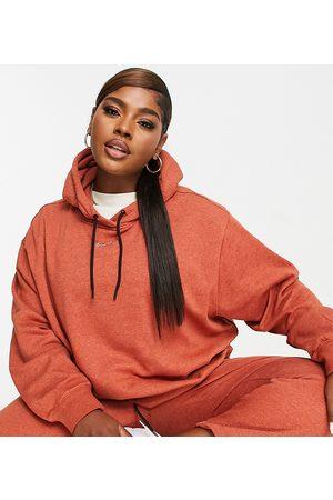 Nike Women Sweatshirts - Plus Lounge essential fleece oversized hoodie in marl