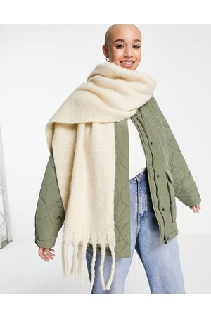Monki Recycled polyester scarf in -Neutral