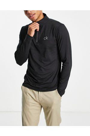 Calvin Klein Newport 1/4 zip long sleeve top in