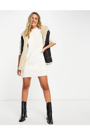 Fashion Union Chunky roll neck knitted jumper dress