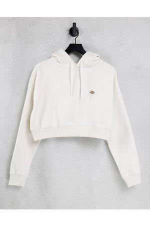Dickies Oakport cropped hoodie in ecru