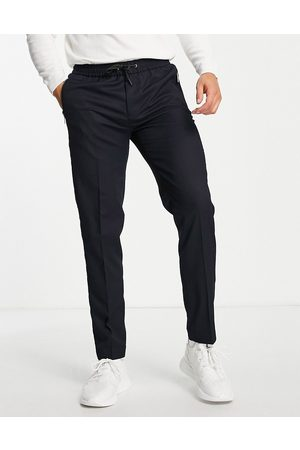 River Island Twill joggers in navy