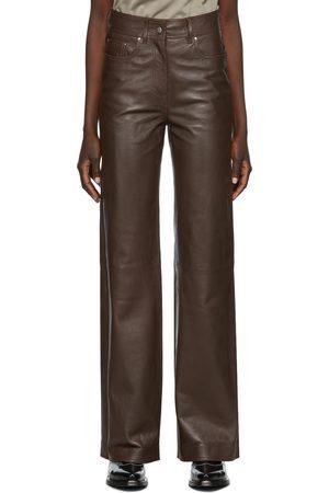 Stand Studio Women Leather Pants - Leather Aisha Trousers