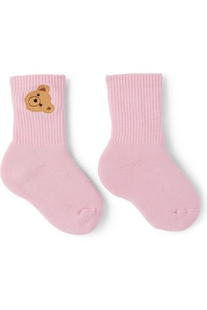 Palm Angels Kids Mid-High Bear Socks