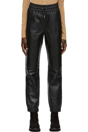 Stand Studio Women Leather Pants - Leather Cuffed Justice Lounge Pants