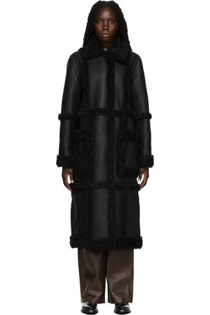 Stand Studio Faux-Leather & Faux-Shearling Patrice Long Coat