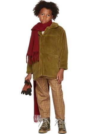 Repose AMS Kids Khaki Faux-Fur Coat