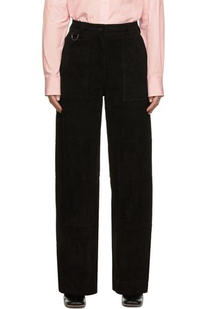 Saks Potts Women Leather Pants - Suede Rose Trousers