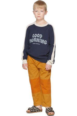 Bobo Choses Kids Navy & Off- Good Morning Sweater